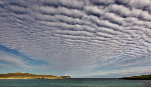 Wave-shaped clouds
