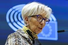 Christine Lagarde addresses European lawmakers