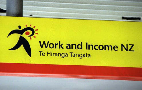 Work and Income sign