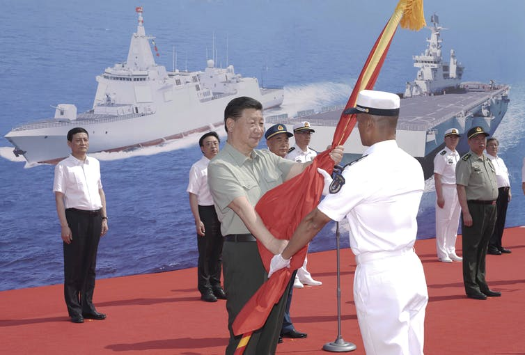 China's navy has been significantly upgraded.