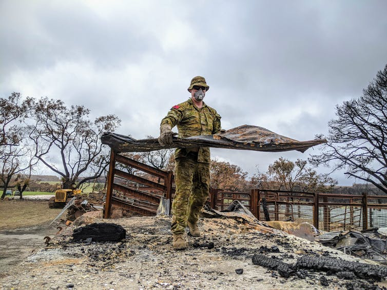 The ADF's response to last year's bushfires.