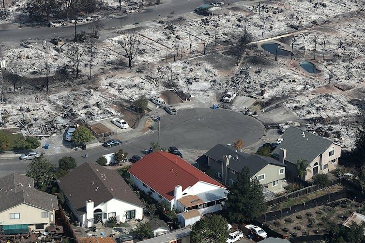 Santa Rosa fire photo