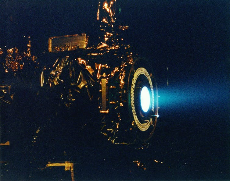 Image d'un propulseur ionique Nasa.