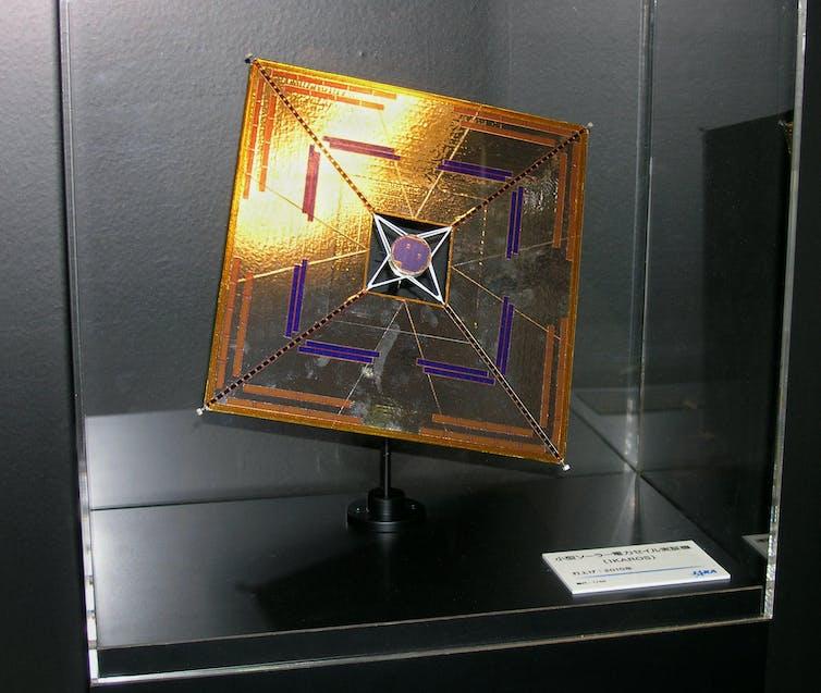 Image de la voile solaire utilisée sur Ikaros.
