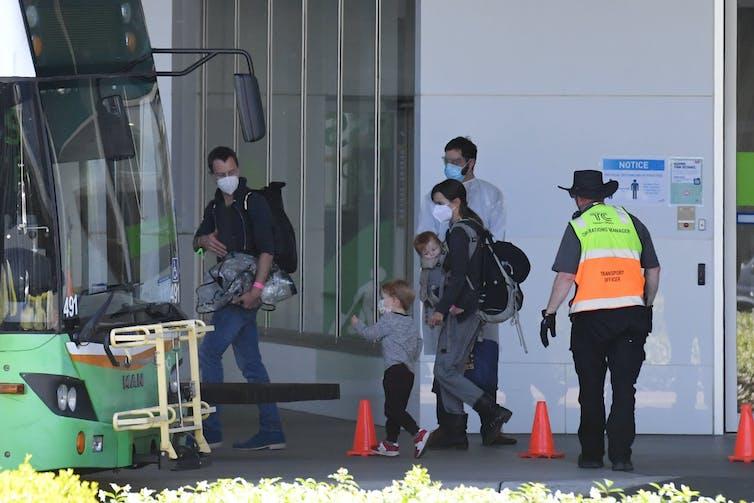 Australian family returning to Canberra in November 2020.