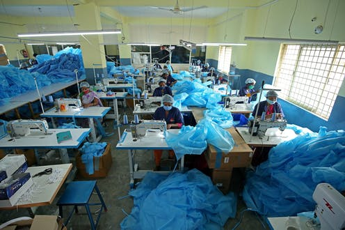 A PPE factory in India