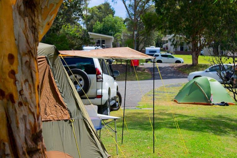 A campground in Australia