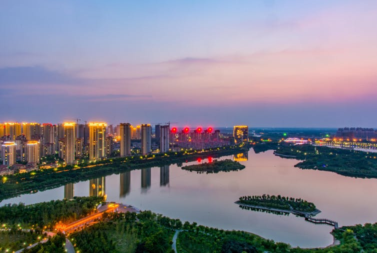 Skyline of Suzhou City