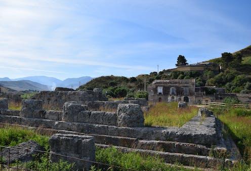 stone ruins on the Sicilian landscape