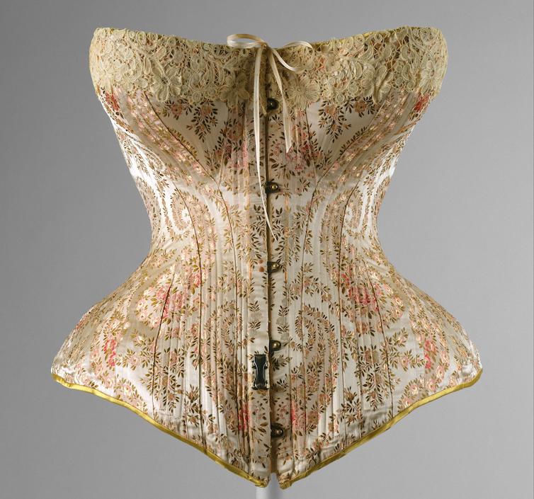 A beautiful corset, with a tiny waist.
