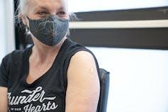 Patty Hajdu gets her vaccine.