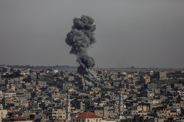 An Israeli airstrike on Gaza.