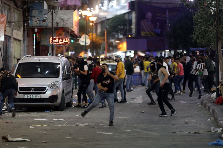 A clash in the West Bank city of Hebron.