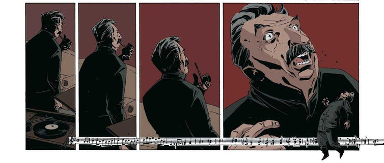 comics frames of stalin dying