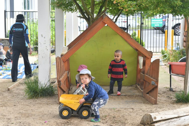 Children playing at a Canberra daycare centre.
