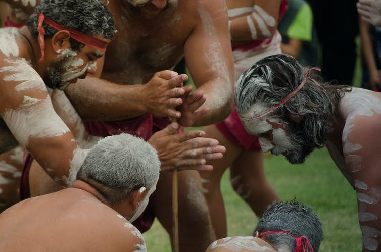 Aboriginal men in traditional dress