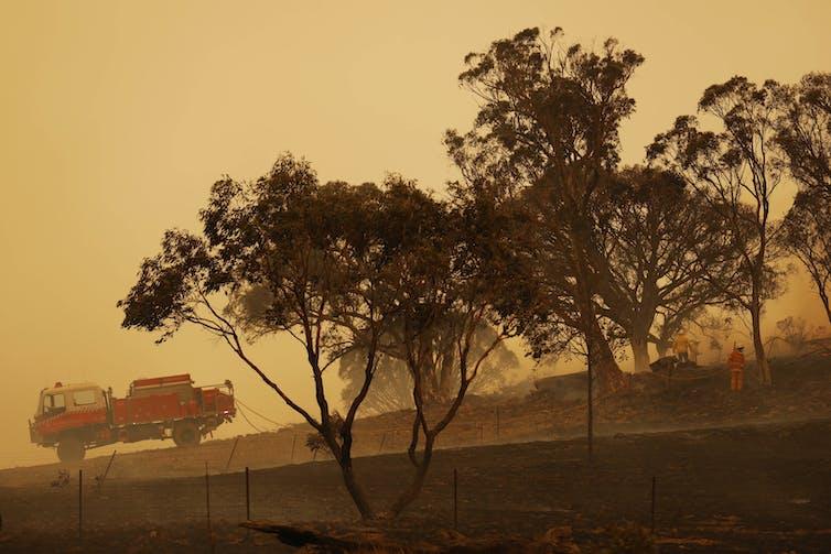 Bushfires have quite different economic impacts to floods.