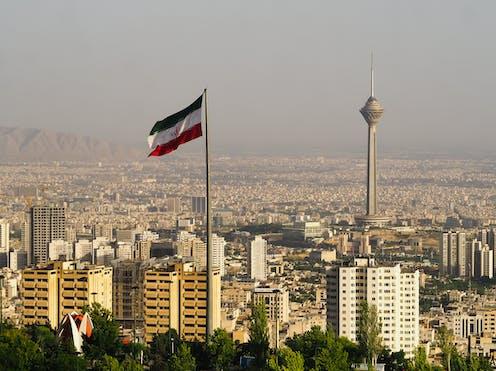 The skyline of Tehran.