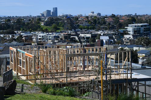 housing being constructed