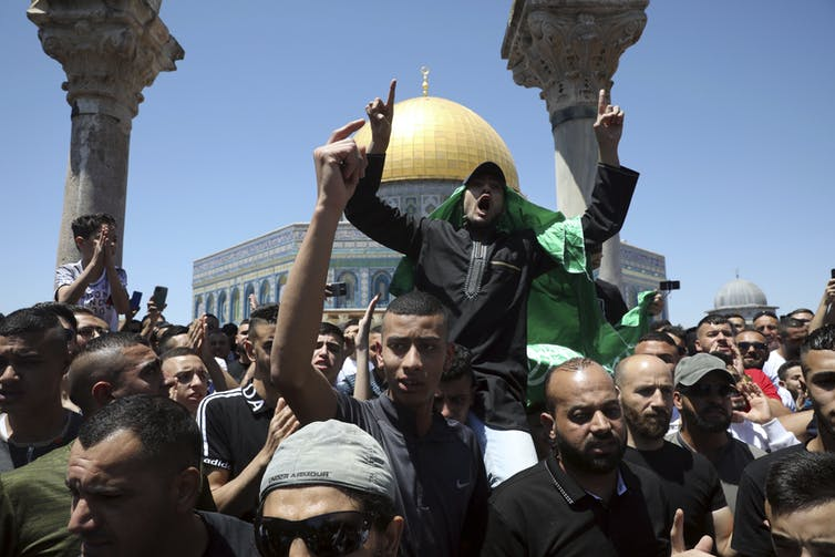 A protest against Israeli airstrikes