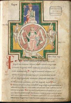 Ancient illuminated manuscript.