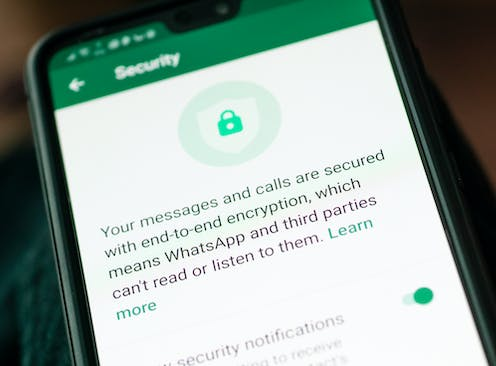 Phone app showing security screen.