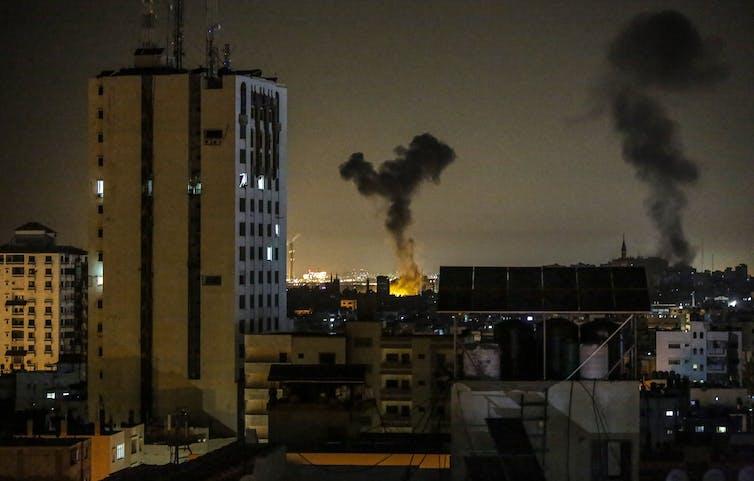 An Israeli airstrike in Gaza.