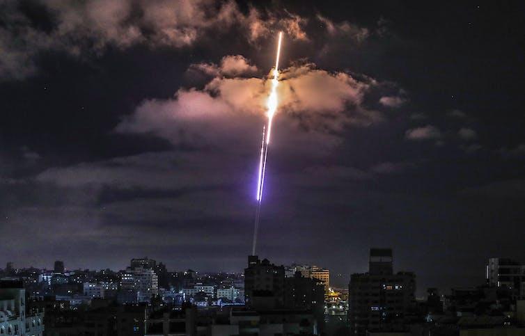 Rocket heading toward Israel