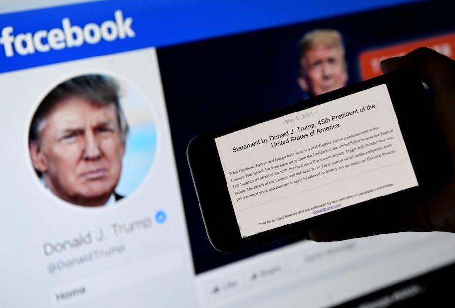Compte Facebook de Donald Trump