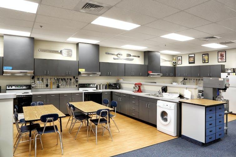 A school kitchen facility.