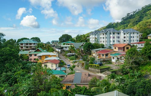 Houses in Victoria, Seychelles