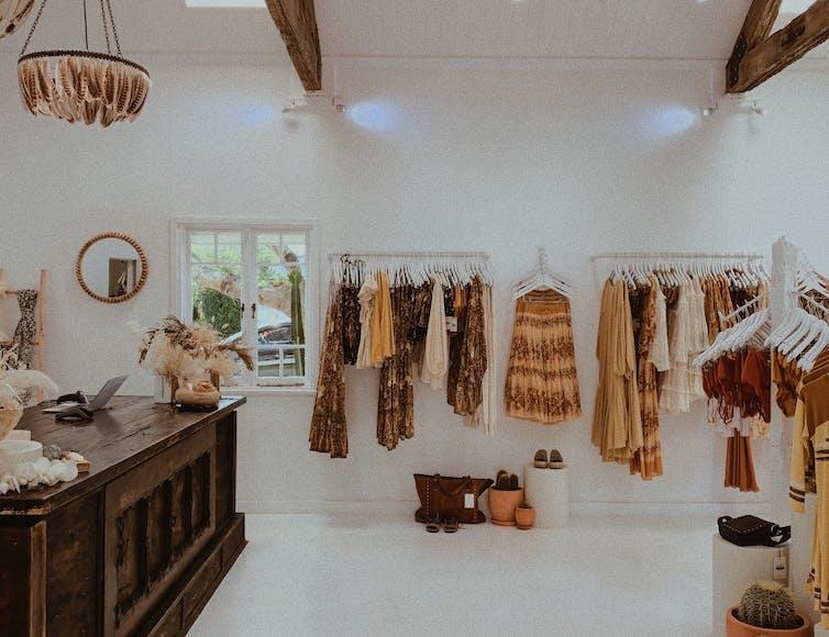 clothing boutique.