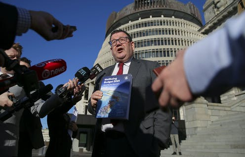 Finance minister Grant Robertson, budget day 2021