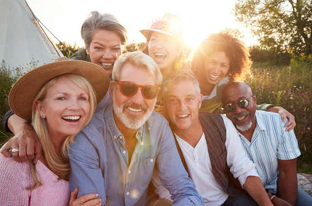 Image of a group of happy people.