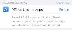Offloading apps