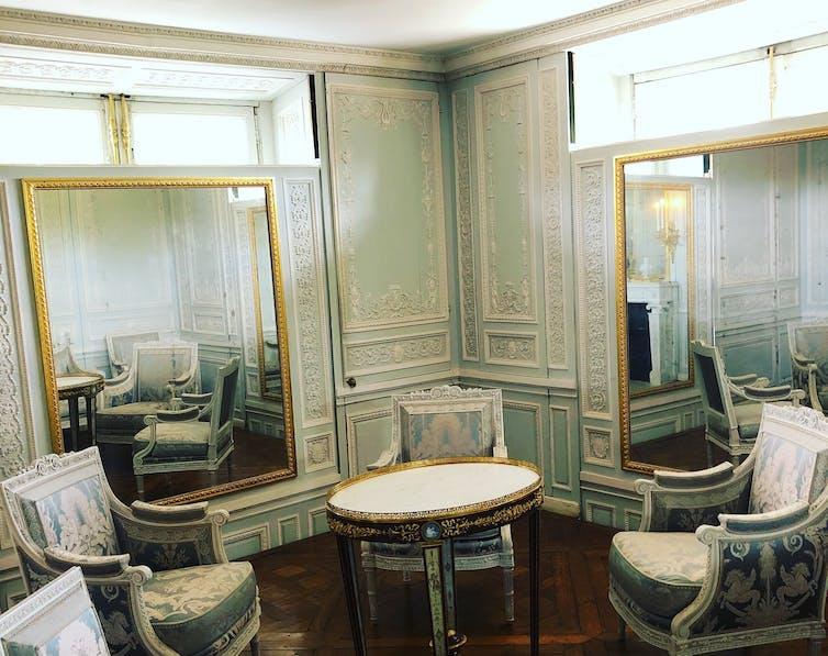 ornate french boudoir