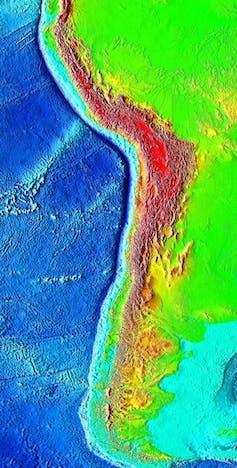 Colour map of  Atacama Trench.