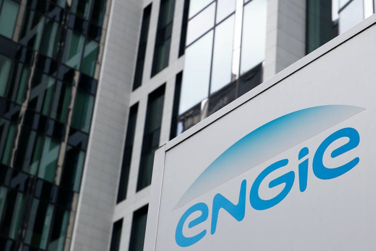 Engie logo on building