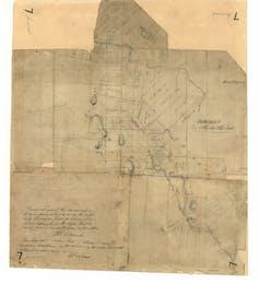 Map of land grants in Van Diemen's Land