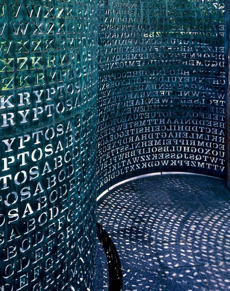 Kryptos sculpture at CIA