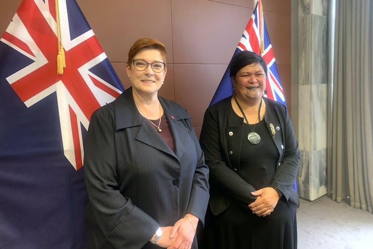 Australian Foreign Minister Marise Payne and New Zealand Foreign Minister Nanaia Mahuta