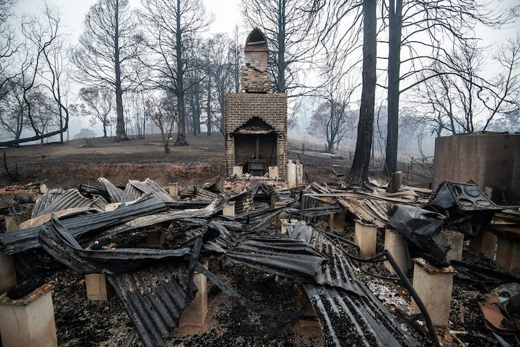 Home burnt to rubble by fire