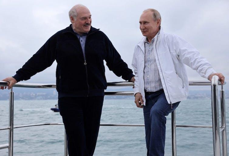 Alexandre Loukachenko et Vladimir Poutine