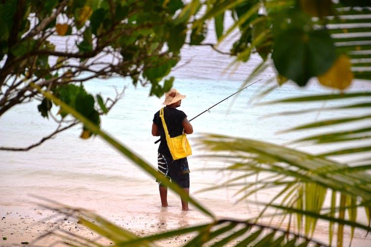 Samoan man at the beach