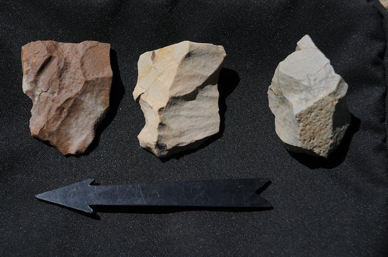 Stone tools taken from the Tibetan plateau