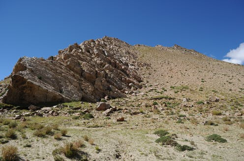 Quarry at Su-re site at the Tibetan Plateau