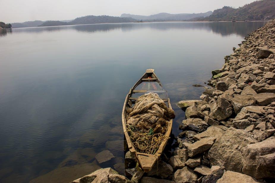 A canoe at the Usuma Dam in Abuja.