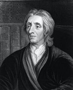 An engraving of English philosopher John Locke