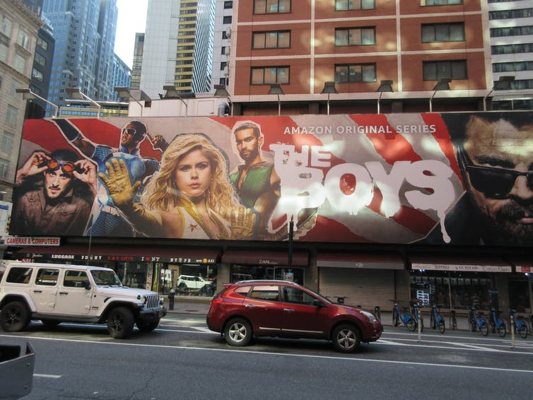 Billboard of TV show 'The Boys'