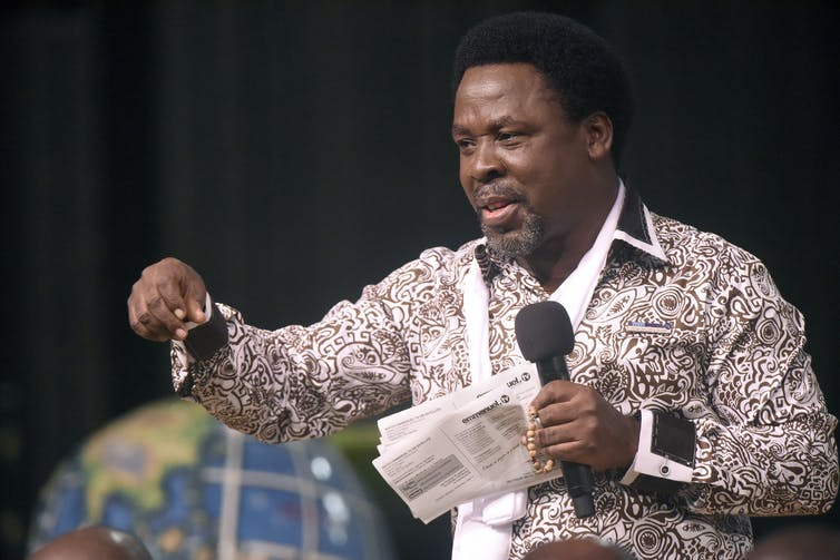 Nigerian preacher TB Joshua, one of Africa's most influential evangelists, has died at 57. Pius Utomi Ekpei/AFP/Getty Images